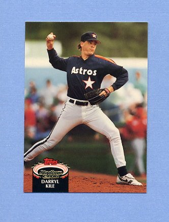 1992 Stadium Club Baseball #837 Darryl Kile - Houston Astros