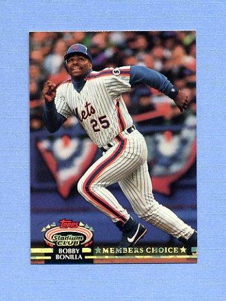 1992 Stadium Club Baseball #608 Bobby Bonilla MC - New York Mets