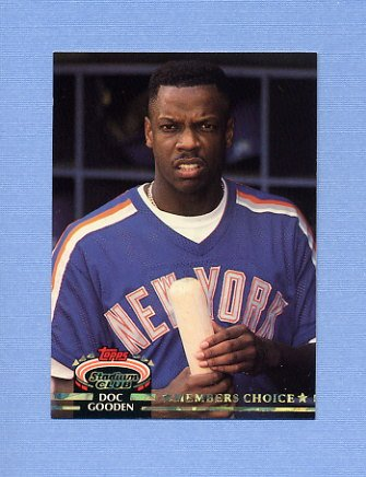1992 Stadium Club Baseball #602 Dwight Gooden MC - New York Mets