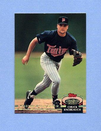 1992 Stadium Club Baseball #601 Chuck Knoblauch MC - Minnesota Twins