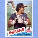 1985 Topps Baseball #184 Carmen Castillo - Cleveland Indians
