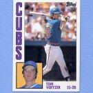 1984 Topps Baseball #117 Tom Veryzer - Chicago Cubs