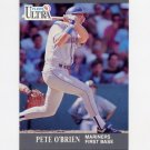 1991 Ultra Baseball #342 Pete O'Brien - Seattle Mariners