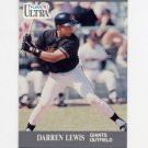 1991 Ultra Baseball #323 Darren Lewis - San Francisco Giants