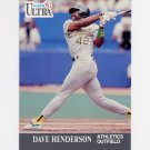 1991 Ultra Baseball #247 Dave Henderson - Oakland A's