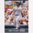 1991 Ultra Baseball #183 Greg Vaughn - Milwaukee Brewers