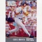 1991 Ultra Baseball #172 Greg Brock - Milwaukee Brewers