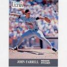 1991 Ultra Baseball #111 John Farrell - Cleveland Indians