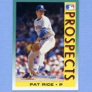 1992 Fleer Baseball #658 Pat Rice MLP - Seattle Mariners