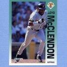 1992 Fleer Baseball #560 Lloyd McClendon - Pittsburgh Pirates