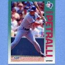 1992 Fleer Baseball #313 Geno Petralli - Texas Rangers