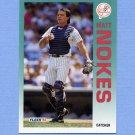 1992 Fleer Baseball #239 Matt Nokes - New York Yankees