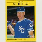 1991 Fleer Baseball #568 Jeff Schulz RC - Kansas City Royals