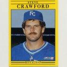 1991 Fleer Baseball #554 Steve Crawford - Kansas City Royals