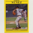 1991 Fleer Baseball #345 Edwin Nunez - Detroit Tigers