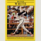 1991 Fleer Baseball #328 Devon White - California Angels