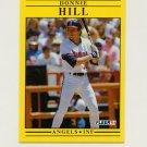1991 Fleer Baseball #316 Donnie Hill - California Angels
