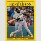 1991 Fleer Baseball #009 Dave Henderson - Oakland A's
