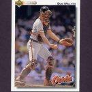 1992 Upper Deck Baseball #692 Bob Melvin - Baltimore Orioles