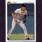1992 Upper Deck Baseball #665 Carlos Garcia - Pittsburgh Pirates