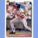 1992 Upper Deck Baseball #451 Otis Nixon - Atlanta Braves