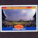 1989 Score Baseball #652 Wrigley Field HL - Chicago Cubs