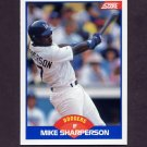 1989 Score Baseball #602 Mike Sharperson - Los Angeles Dodgers