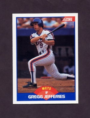 1989 Score Baseball #600 Gregg Jefferies - New York Mets