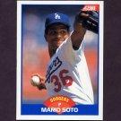 1989 Score Baseball #588 Mario Soto - Los Angeles Dodgers