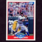 1989 Score Baseball #537 Mike Gallego - Oakland A's