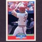 1989 Score Baseball #536 Mike Laga - St. Louis Cardinals