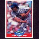 1989 Score Baseball #528 Mike Schooler - Seattle Mariners
