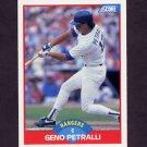 1989 Score Baseball #526 Geno Petralli - Texas Rangers
