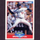 1989 Score Baseball #507A Brian Holton - Los Angeles Dodgers