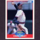 1989 Score Baseball #503 Chuck Finley - California Angels