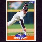 1989 Score Baseball #349 Mark Grant - San Diego Padres
