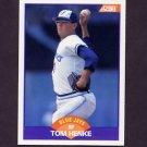 1989 Score Baseball #318 Tom Henke - Toronto Blue Jays