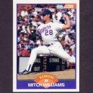 1989 Score Baseball #301 Mitch Williams - Texas Rangers