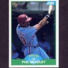 1989 Score Baseball #079 Phil Bradley - Philadelphia Phillies
