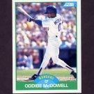 1989 Score Baseball #059 Oddibe McDowell - Texas Rangers