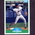 1989 Score Baseball #058 Tim Teufel - New York Mets