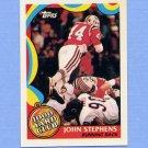1989 Topps Football 1000 Yard Club #09 John Stephens - New England Patriots NM-M