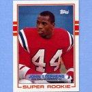 1989 Topps Football #194 John Stephens RC - New England Patriots