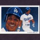 1993 Upper Deck Baseball #820 Los Angeles Dodgers Team Checklist / Darryl Strawberry