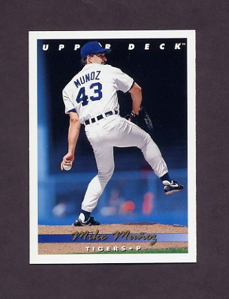 1993 Upper Deck Baseball #601 Mike Munoz - Detroit Tigers