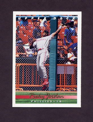 1993 Upper Deck Baseball #561 Ricky Jordan - Philadelphia Phillies
