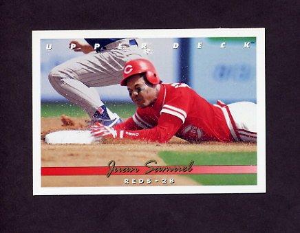 1993 Upper Deck Baseball #527 Juan Samuel - Cincinnati Reds