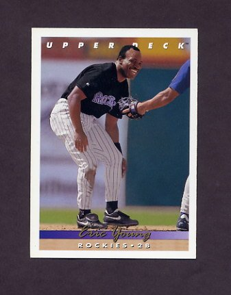 1993 Upper Deck Baseball #521 Eric Young - Colorado Rockies