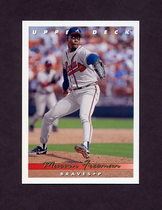 1993 Upper Deck Baseball #519 Marvin Freeman - Atlanta Braves