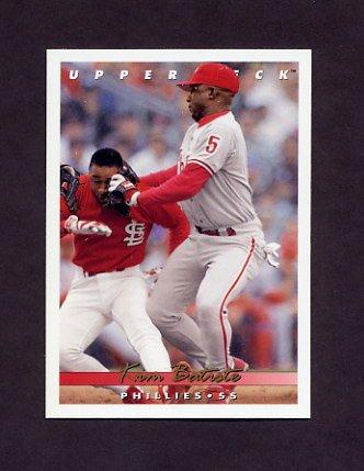 1993 Upper Deck Baseball #516 Kim Batiste - Philadelphia Phillies
